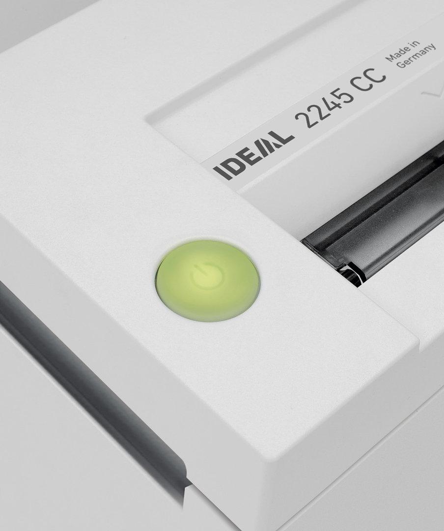 Paperintuhooja Ideal 2245 4 mm suikale - myös paperiliittimet, luottokortit ja passit