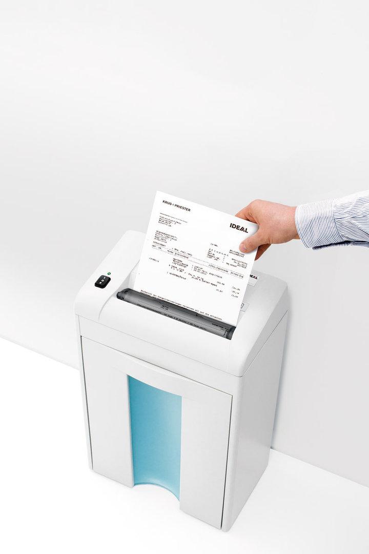 Paperintuhooja Ideal 2270 4mm suikale - tuhoaa myös luottokortit ja CD-levyt