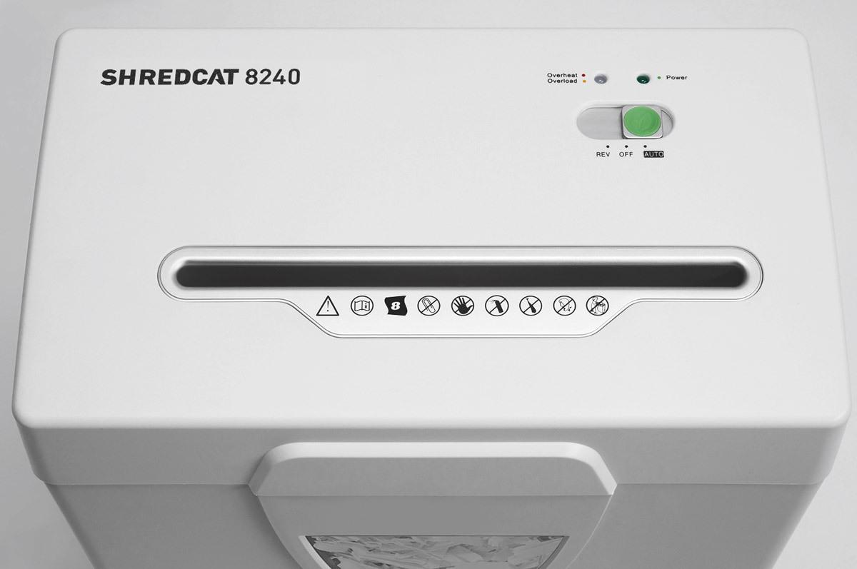 Paperintuhooja Ideal Shredcat 8240CC 4x40mm silppu - suuri kapasiteetti
