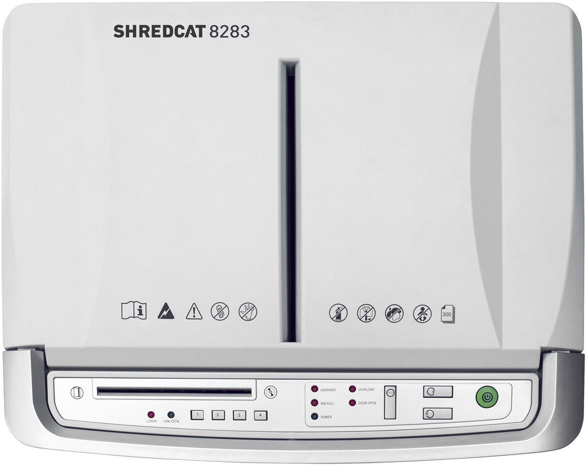 Paperintuhooja Ideal Shredcat 8283 4x10 mm silppu - myös luottokortit ja CD-levyt, PIN-lukitus