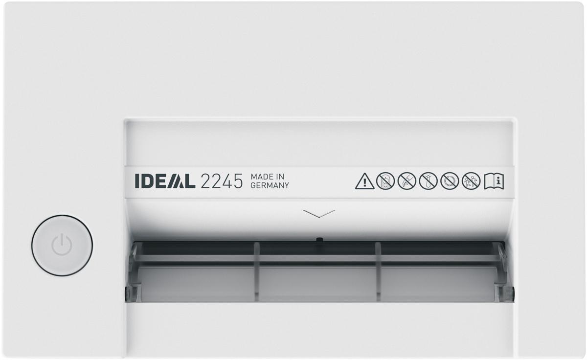 Paperintuhooja Ideal 2245 2x15mm silppu - käsittelee myös paperiliittimet