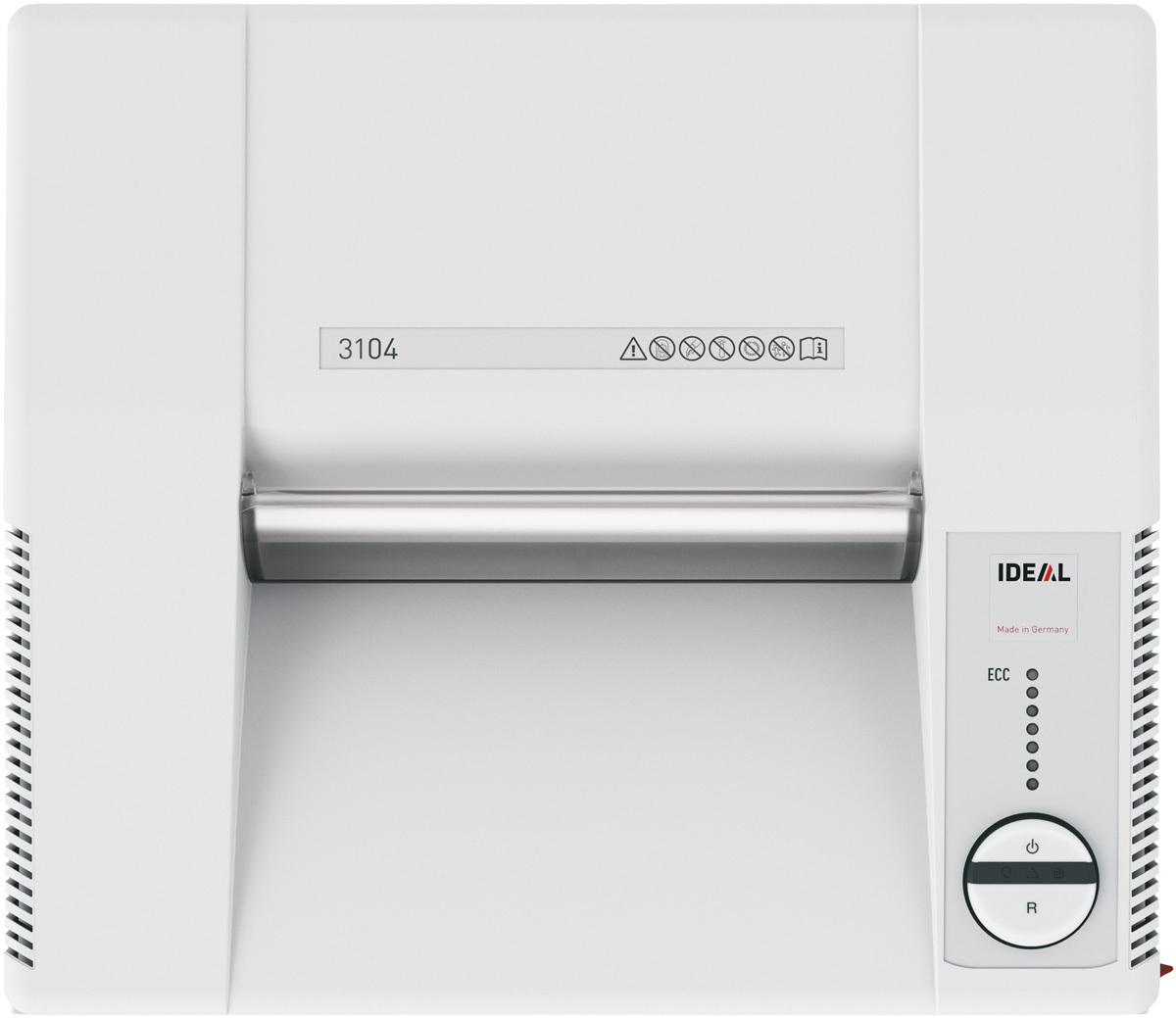 Paperintuhooja Ideal 3104 2X15mm silppu - myös luottokortit, passit ja CD-levyt