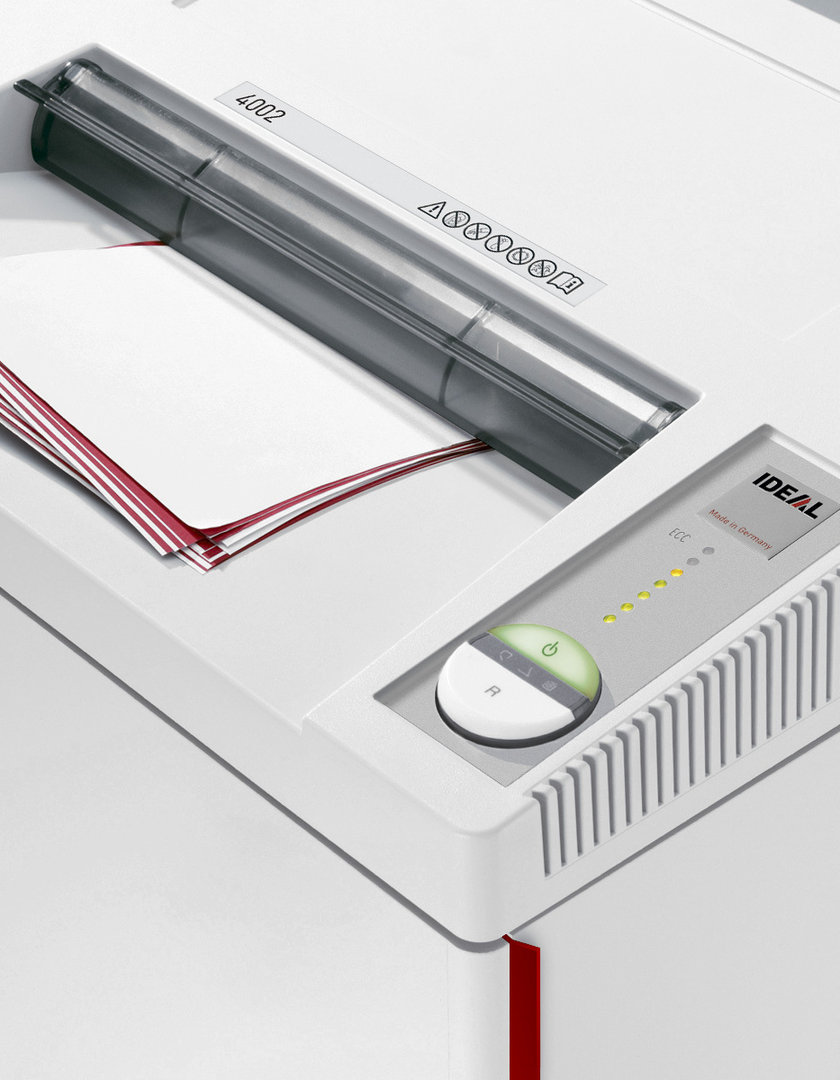 Paperintuhooja Ideal 4002 4X40mm silppu - huipputehokas, suuri kapasiteetti
