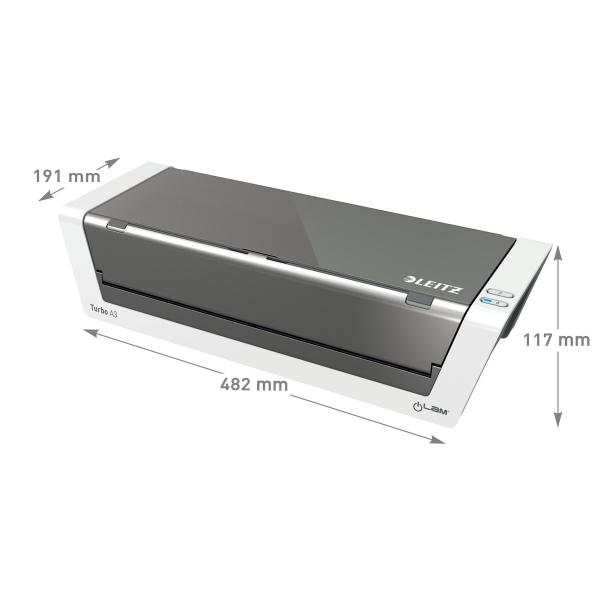 Laminointilaite Leitz iLAM Touch2 Turbo A3 - nopeus 1500 mm/min