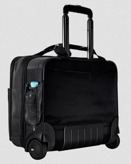 Vetolaukku Leitz Carry-On Trolley (salkkumalli) musta - sis. paljon erilaisia taskuja ja tarvikkeita