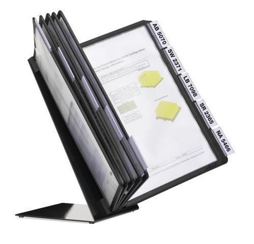 Pöytäteline - selailuteline - pikahakuteline  Durable Vario A4 5570 + 10 taskua