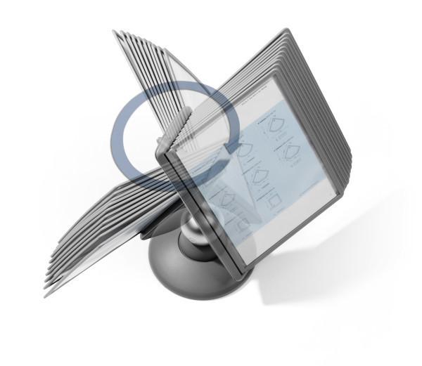 Selailuteline pöytämalli Sherpa Motion 5587 10 taskua - pyörii 360° ja säädettävä katselukulma