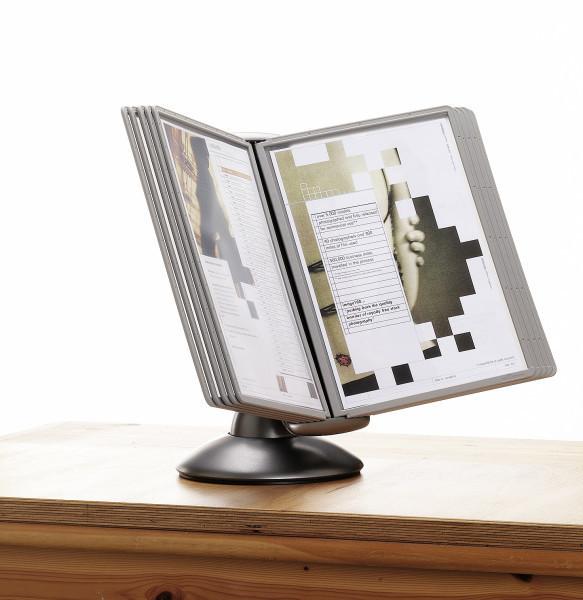 Selailuteline / pöytäteline Sherpa Motion 5587 10 taskua - pyörii 360° ja säädettävä katselukulma