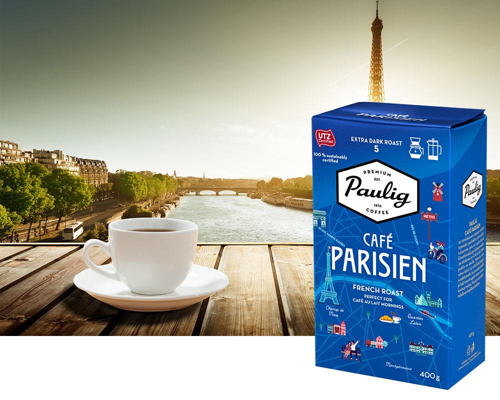 Kahvi Paulig Parisien SJ 400G - rakkaudesta kahviin ja Pariisiin