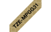 Tarrakasetti Brother TZe-MPGG31 12mm kulta geometri/musta