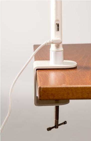 Työpistevalaisin ProLite Link LED valkoinen - valon säätö hipaisunäppäimestä ja USB-pistoke