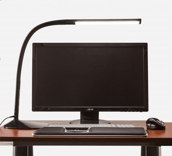 Työpistevalaisin ProLite Link LED musta - valon säätö hipaisunäppäimestä ja USB-pistoke