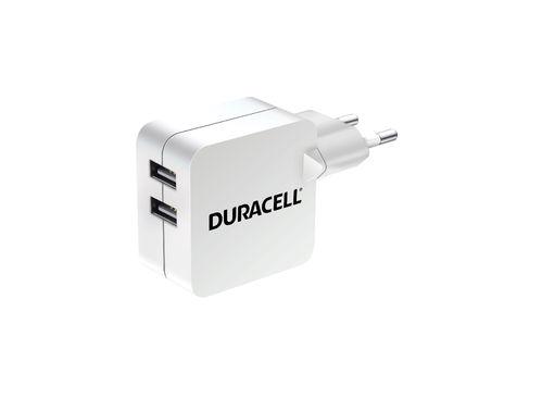 Verkkolaturi Duracell 2XUSB 220V 2.4A+2.4A