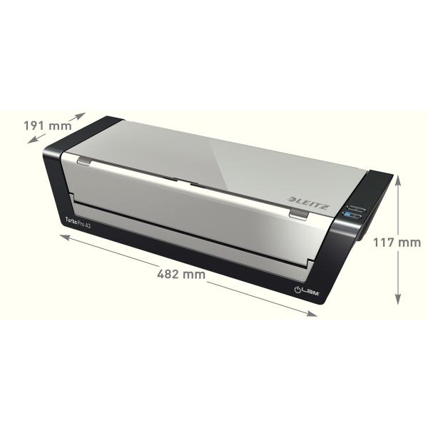 Laminointilaite Leitz iLAM Touch Turbo Pro A3 - nopeus 2000 mm/min