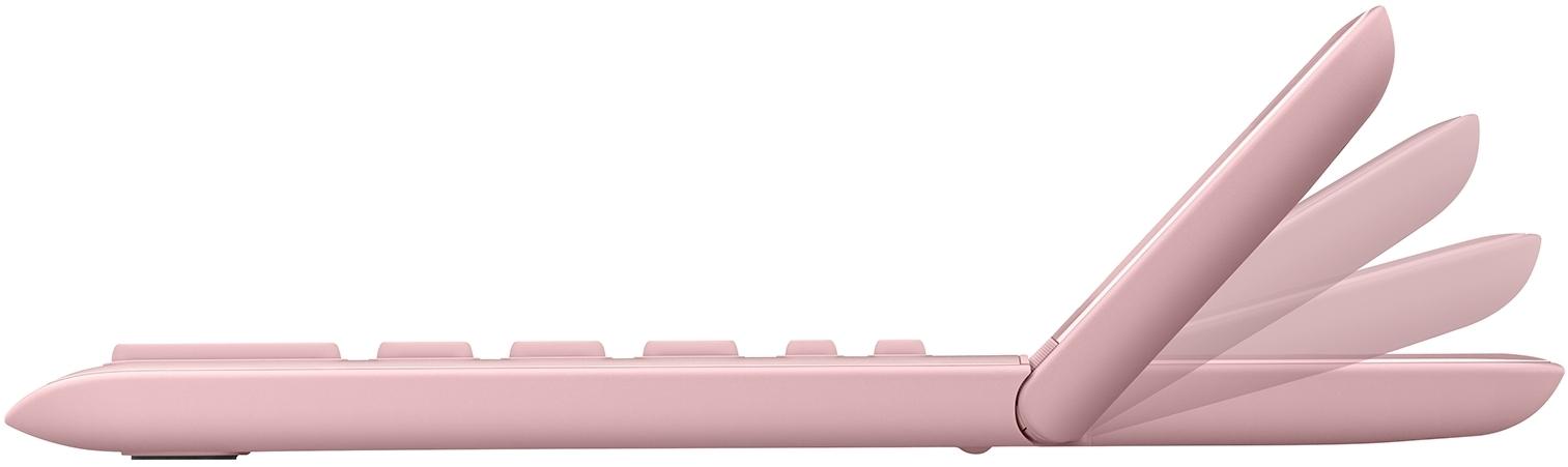 Pöytälaskin Casio JW-200SC-PK vaaleanpunainen - hyvin ohut, iso taittuva näyttö, metallikuori