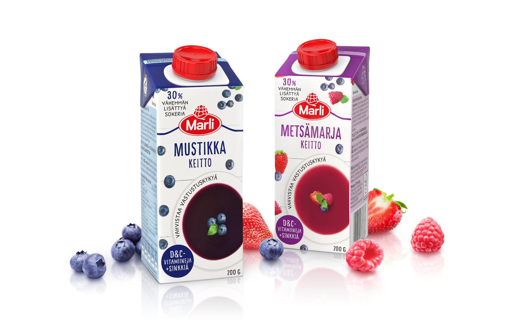Marjakeitto Marli mustikka D&C 200g - vahvistaa vastustuskykyä (vitamiinit ja sinkki)