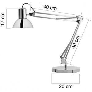 Työpistevalaisin Unilux Success LED kromi - upea ajaton muotoilu ja mukana 11 W LED E27 -lamppu