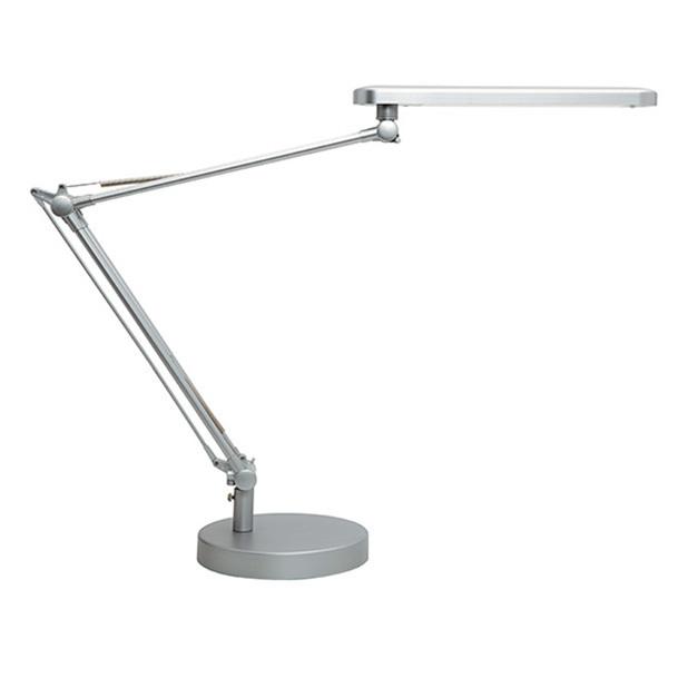 Työpistevalaisin Unilux Mambo LED hopea - diffuusori jakaa valon pehmeästi ja tasaisesti