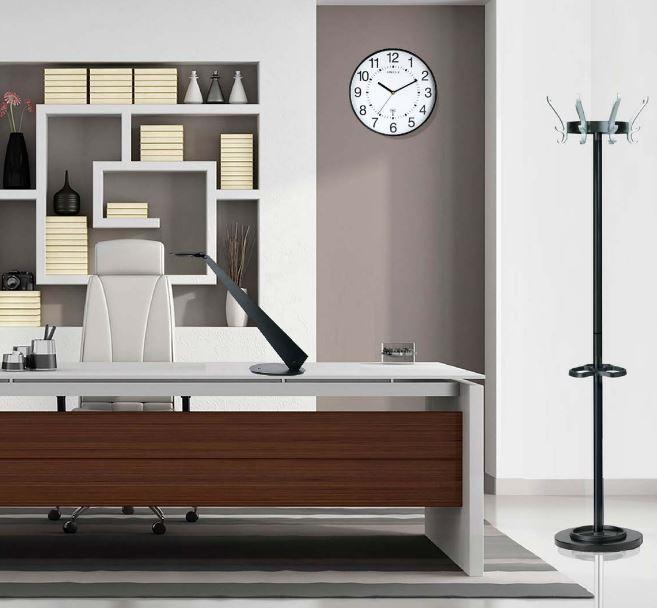 Seinäkello Unilux Maxi Pop halkaisija 37,5 cm hiljainen valkoinen - tyylikäs iso kello näkyy kauas