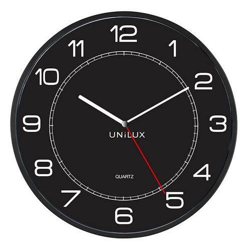 Seinäkello Unilux Mega halkaisija 57,5 cm musta - jättisuuri kello näkyy kauemmaksikin