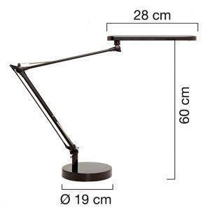 Työpistevalaisin Unilux Mambo LED musta - diffuusori jakaa valon pehmeästi ja tasaisesti