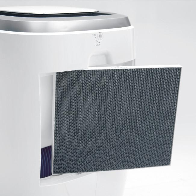 Ilmankostutin Ideal AW60 60 m2 - myös puhdistaa ilmaa HEPA- ja aktiivihiilisuodattimensa avulla