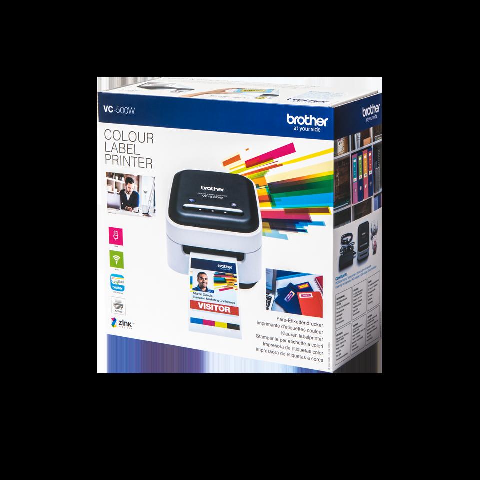 Tarratulostin Brother VC-500W 4-väri Wi-Fi langaton - myös värivalokuvatarrat ilman mustetta