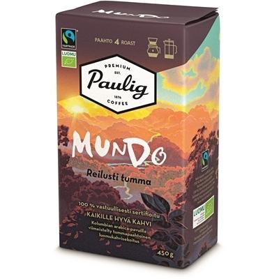 Kahvi Paulig Mundo luomu Reilu kauppa Reilusti tumma HJ 450 g