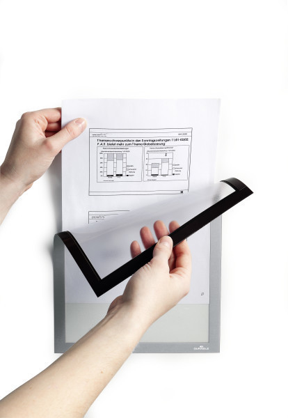Magneettikehys / infokehys Durable Duraframe Magnetic A4 musta /5 kpl
