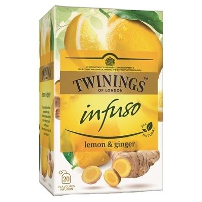 Tee / hauduke Twinings Infuso Lemon & Ginger /20 pss ltk - sitruunaa ja lämmittävää inkivääriä