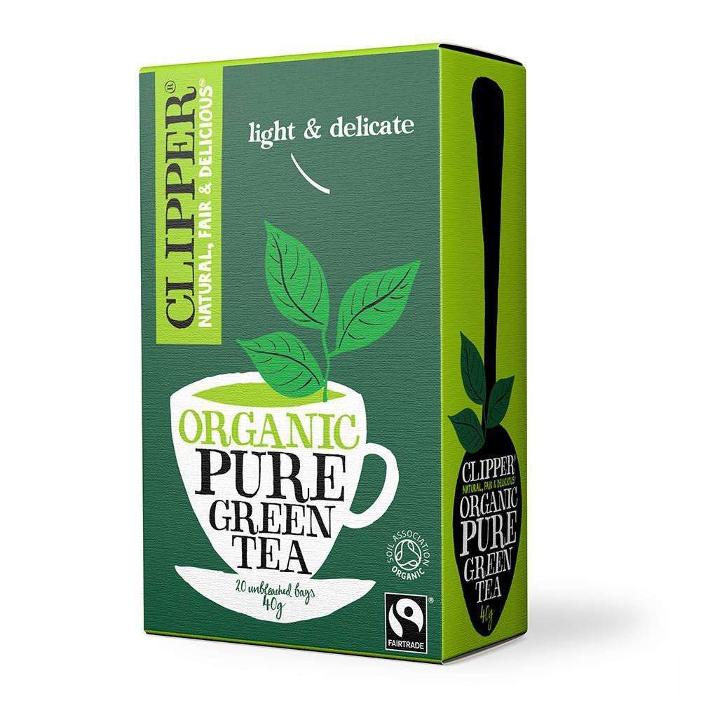 Tee Clipper Vihreä luomu Reilu kauppa /20 - eettinen luomutee Englannin eteläiseltä maaseudulta