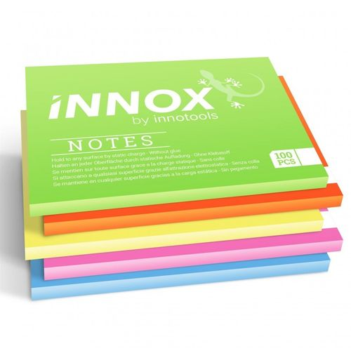Viestilappu Innox Notes 10x7 cm 5 värin pakkaus - Suomessa valmistettu sähköstaattinen viestilappu
